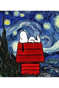 "Life is ART - T-shirt : "" Snoopy Van Gogh"""