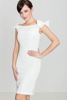 LENITIF - Sukienka K028 Ecru