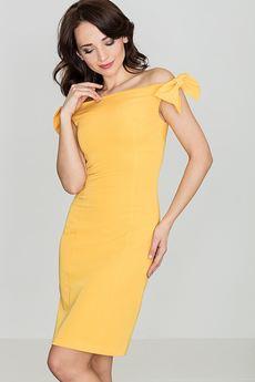 LENITIF - Sukienka K028 Żółty