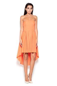 LENITIF - Sukienka K031 Pomarańcz