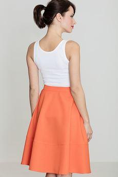 LENITIF - Spódnica K055 Pomarańcz