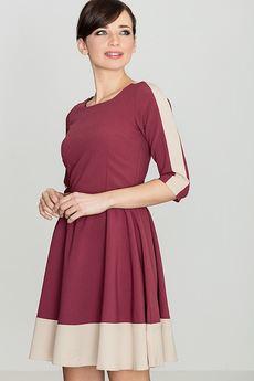 LENITIF - Sukienka K057 Bordo