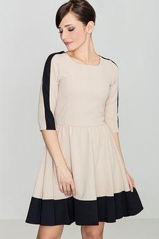 LENITIF - Sukienka K057 Czarny