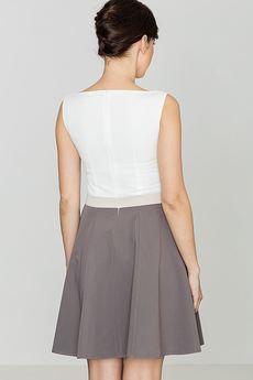 LENITIF - Sukienka K083 Mocca