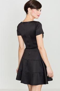 LENITIF - Sukienka K090 Czarny