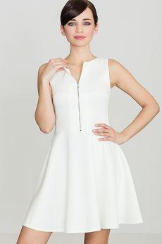 LENITIF - Sukienka K098 Ecru