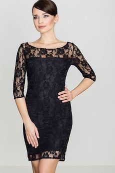 LENITIF - Sukienka K109 Czarny
