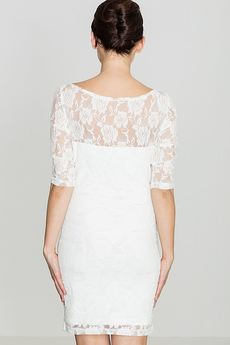 LENITIF - Sukienka K109 Ecru