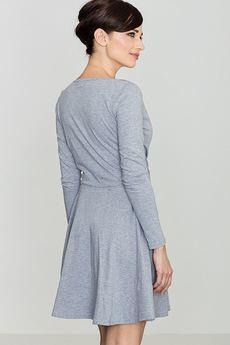LENITIF - Sukienka K116 Szary