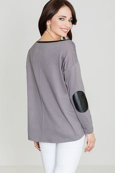LENITIF - Sweter K118 Szary