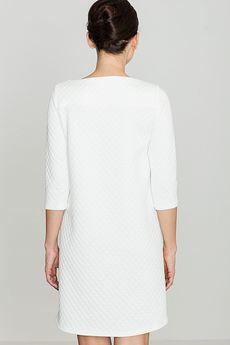 LENITIF - Sukienka K134 Ecru