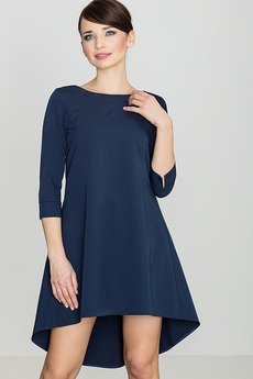 LENITIF - Sukienka K141 Granat