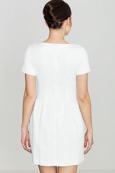 LENITIF - Sukienka K147 Ecru