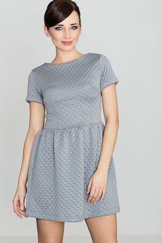 LENITIF - Sukienka K147 Szary