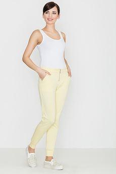 LENITIF - Spodnie K153 Żółty