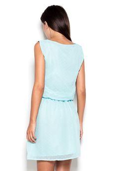 KATRUS - Sukienka K154 Mięta