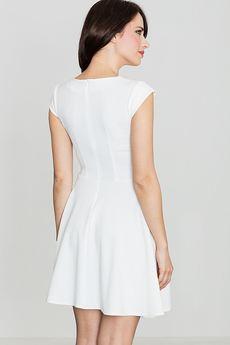 LENITIF - Sukienka K162 Ecru