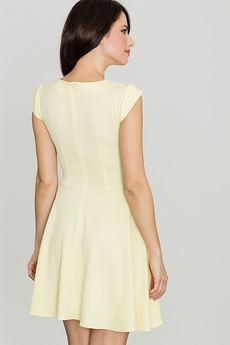 LENITIF - Sukienka K162 Żółty