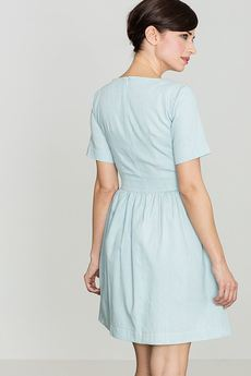 LENITIF - Sukienka K164 Błękit