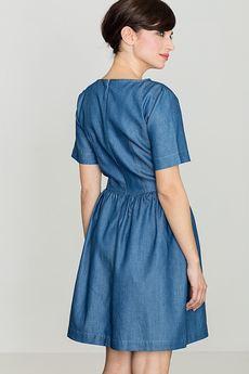 LENITIF - Sukienka K164 Niebieski