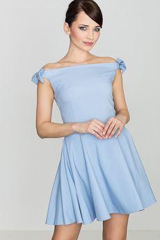 LENITIF - Sukienka K170 Niebieski
