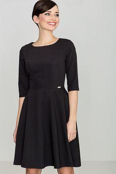 LENITIF - Sukienka K219 Czarny