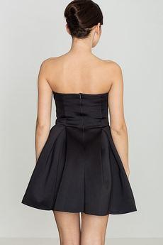 LENITIF - Sukienka K223 Czarny