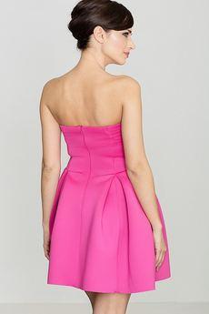 LENITIF - Sukienka K223 Fuksja