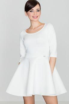 LENITIF - Sukienka K227 Ecru