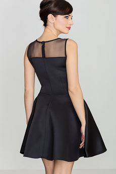 LENITIF - Sukienka K238 Czarny