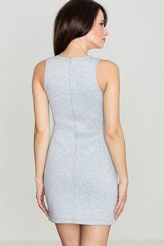 LENITIF - Sukienka K243 Szary