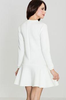 LENITIF - Sukienka K247 Ecru