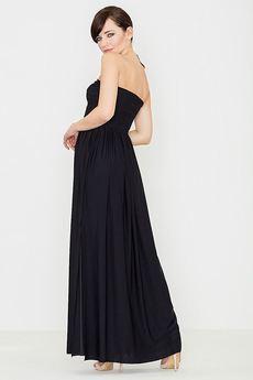 LENITIF - Sukienka K252 Czarny