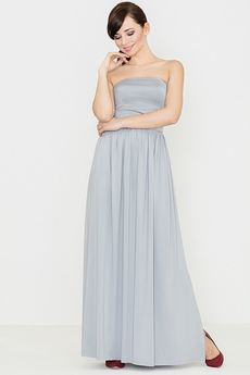 LENITIF - Sukienka K252 Szary