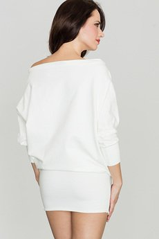 LENITIF - Sukienka K254 Ecru