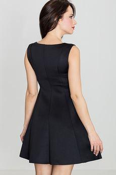 LENITIF - Sukienka K255 Czarny