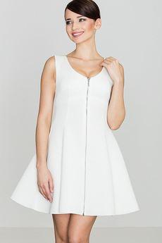 LENITIF - Sukienka K255 Ecru