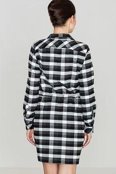 LENITIF - Sukienka K256 Czarny-Biały