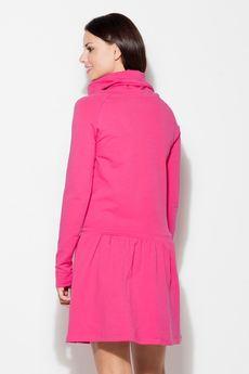 KATRUS - Sukienka K260 Fuksja