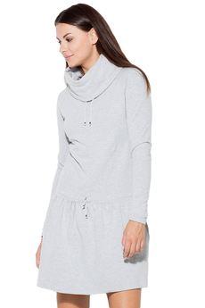 KATRUS - Sukienka K260 Szary