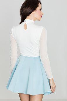 LENITIF - Spódnica K268 Niebieski