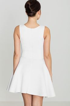 LENITIF - Sukienka K270 Ecru