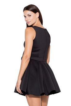 KATRUS - Sukienka K271 Czarny