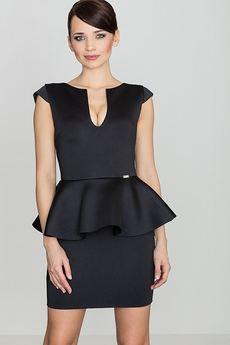 LENITIF - Sukienka K273 Czarny