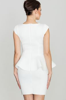 LENITIF - Sukienka K273 Ecru