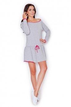 KATRUS - Sukienka K278 Róż