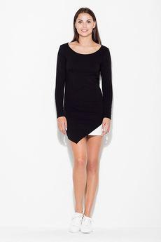 KATRUS - Sukienka K284 Czarny