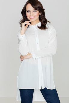 LENITIF - Koszula K293 Ecru