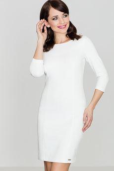 LENITIF - Sukienka K317 Ecru