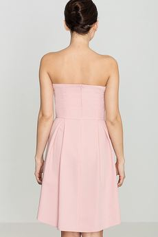 LENITIF - Sukienka K368 Róż